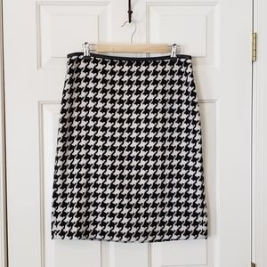 Talbots Houndstooth Pencil Skirt - 10